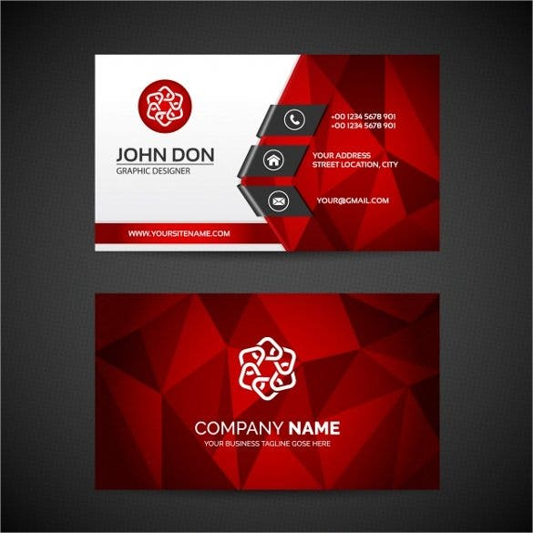 business card template free vector1