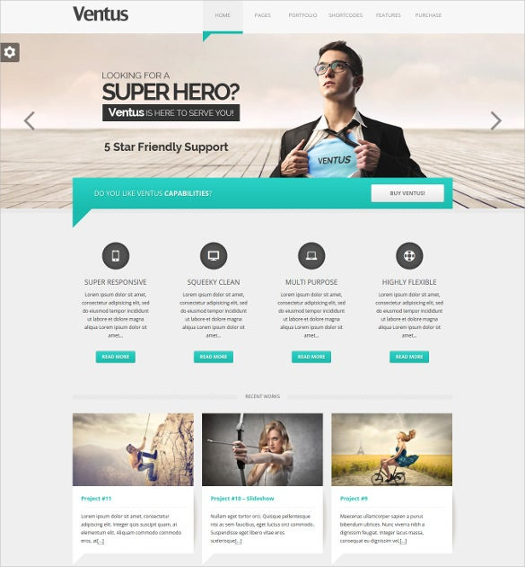 business wordpress scrolling website theme