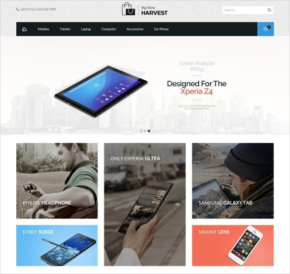 mobile store magento scrolling website theme