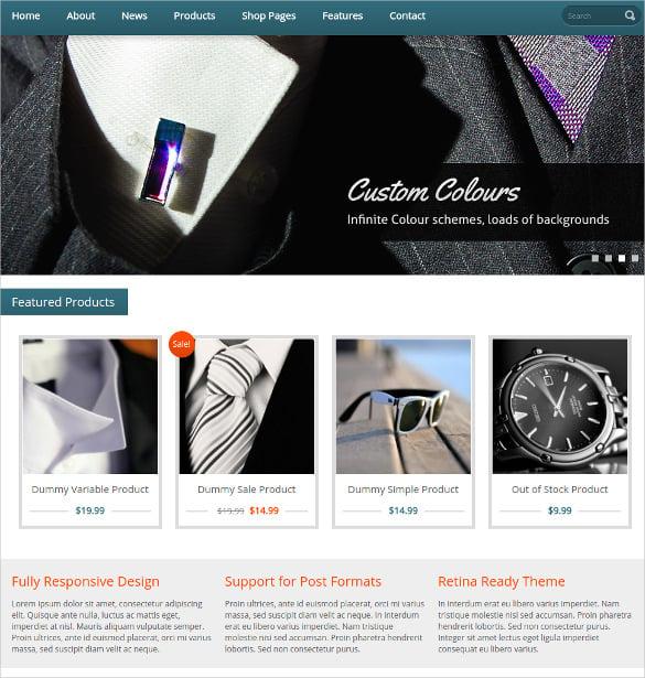 online wordpress jigoshop scrolling ecommerce website theme