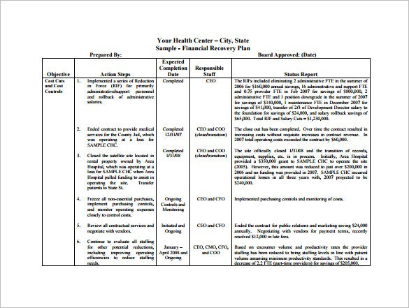 Financial Plan Templates  Free Sample Example Format Download