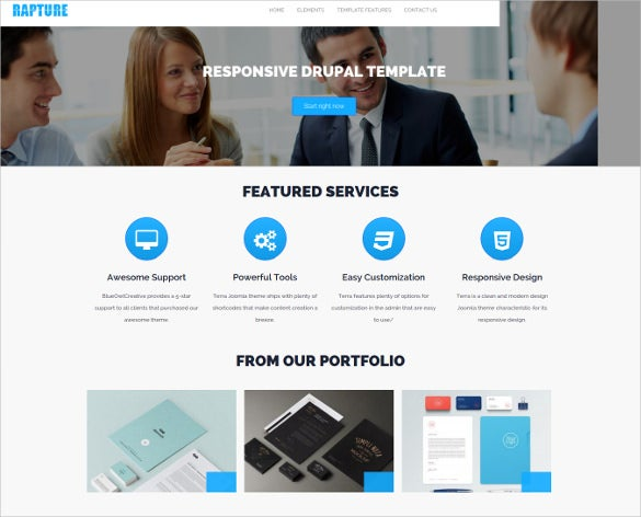 drupal scrolling business website template