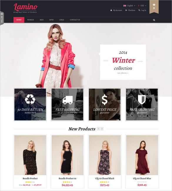 premium responsive screolling fashion magento website theme