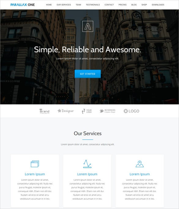 free business scrolling wordpress website theme