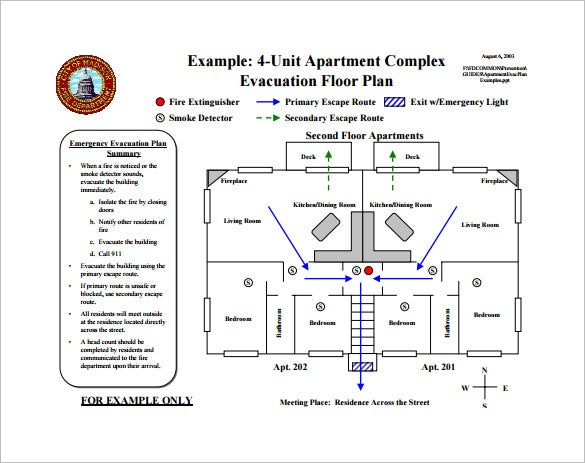 11 evacuation plan templates free sample example for Fire evacuation plan template for office