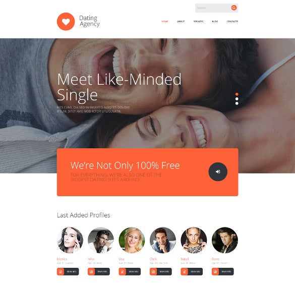 beautiful dating agency joomla theme