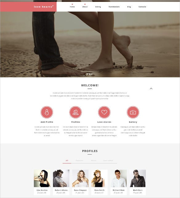 dating wordpress website template