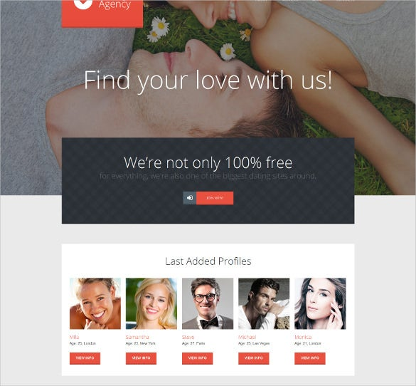 dating agency wordpress website template