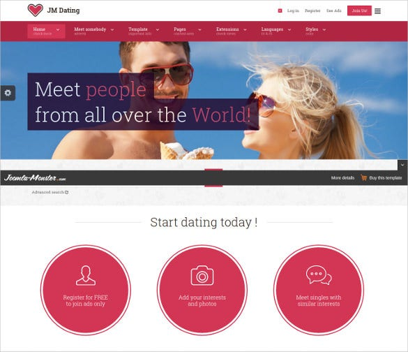 joomla dating templates Joomla extensions and joomla components developer for auction, ecommerce, social networking, dating and content management solutions.
