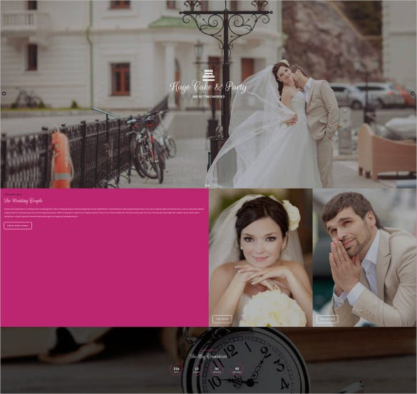 big date wedding wordpress template