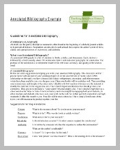 Blank Teaching Annotated Bibliography Template Example Free Download