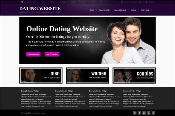 Dating Web Templates