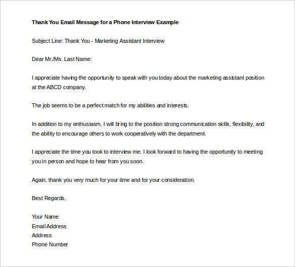 Thank You Letter Templates  Free Sample Example Format