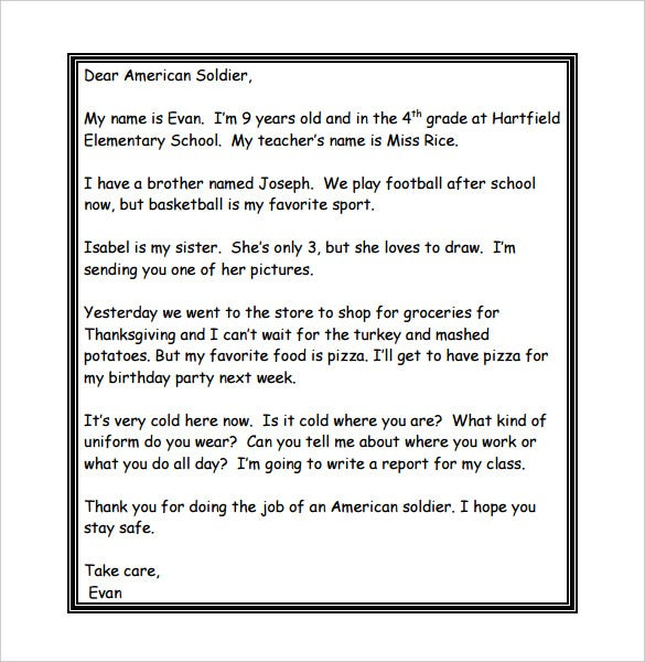 sample letters to soldiers 8 thank you letter templates doc pdf free amp premium 24649 | Thank You Letters to Soldiers Printable PDF Format