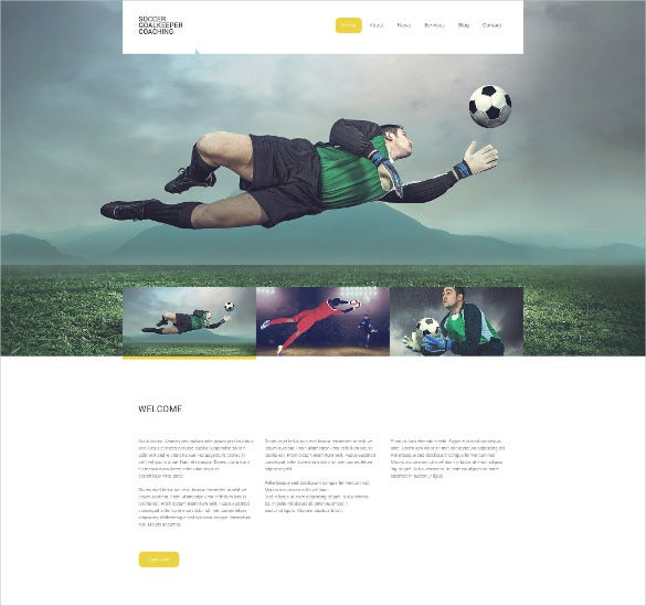 soccer responsive sports website template