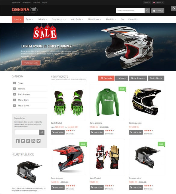 responsive magento sport website theme