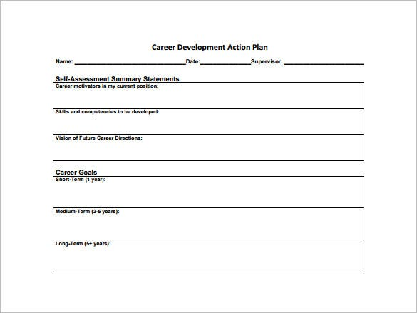 Career Development Plan Templates  Free Sample Example Format