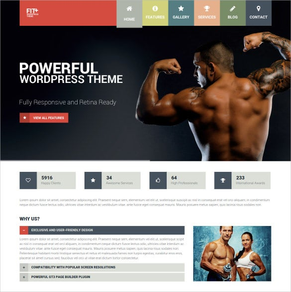 multipurpose sports wordpress website theme