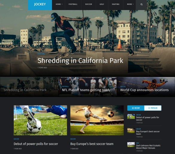 sports magazine news website theme