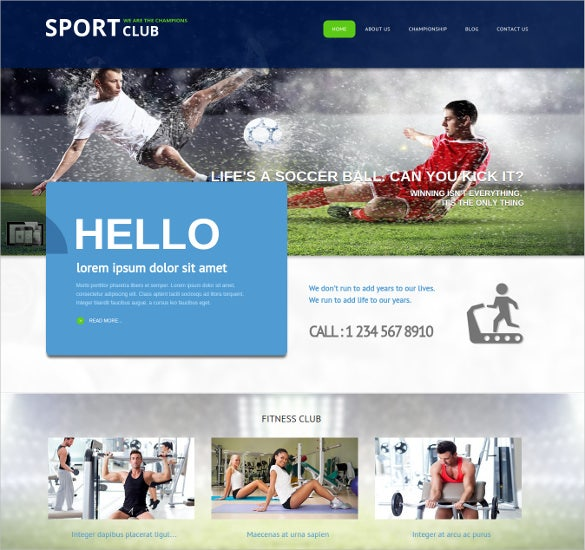 sport club joomla sports website theme