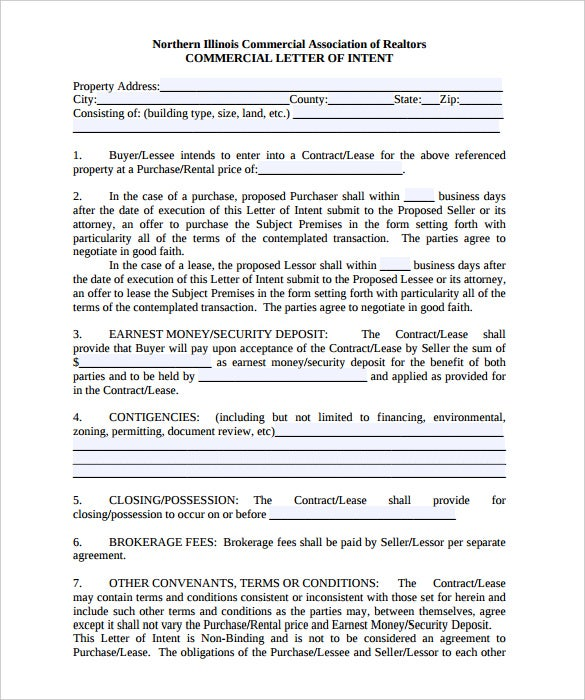 10 Letter of Intent Templates Free Sample Example Format – Sample Commercial Security Agreement Template