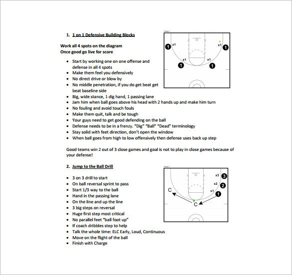 High school basketball practice plan sample soccer for Team training plan template