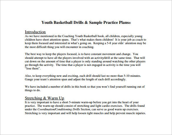 Basketball Practice Plan Template   Free Word Pdf Excel