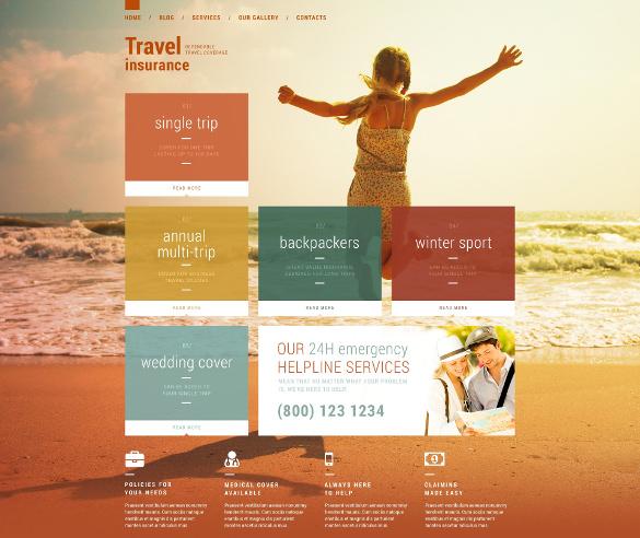travel insurance wordpress website theme