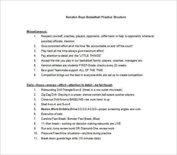 boys basketball practice plan word template free download