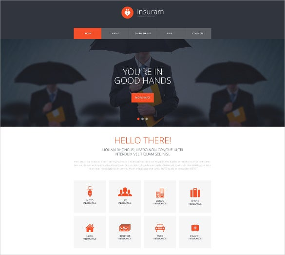 Website templates business safety insurance business success.