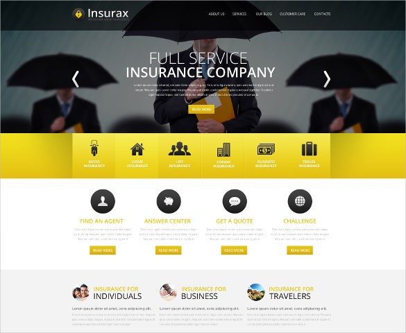 free website template for insurance company  26  Insurance Website Themes