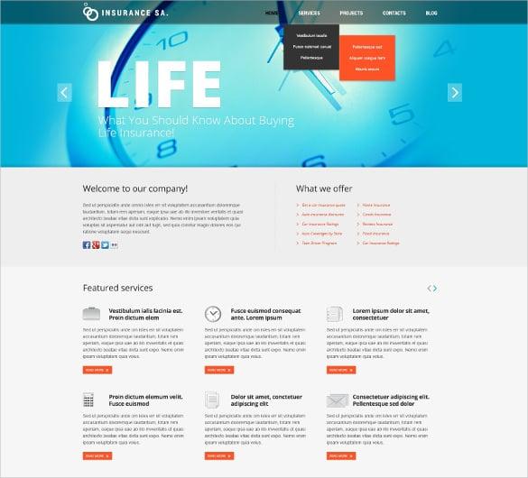 excellent insurance joomla website template