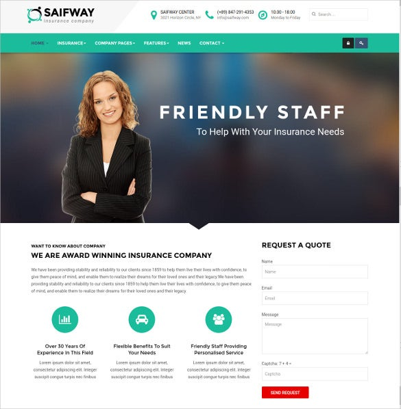 insurance agency template  26  Insurance Website Themes