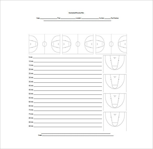 High school basketball schedule template x s o of for Football practice schedule template