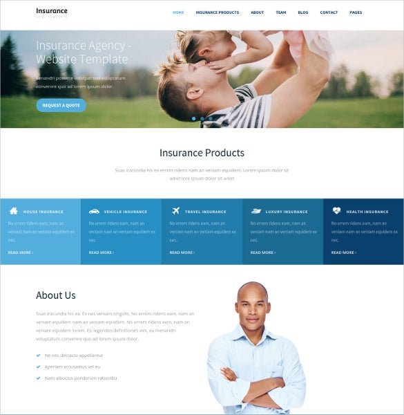 insurance html5 templates  26  Insurance Website Themes