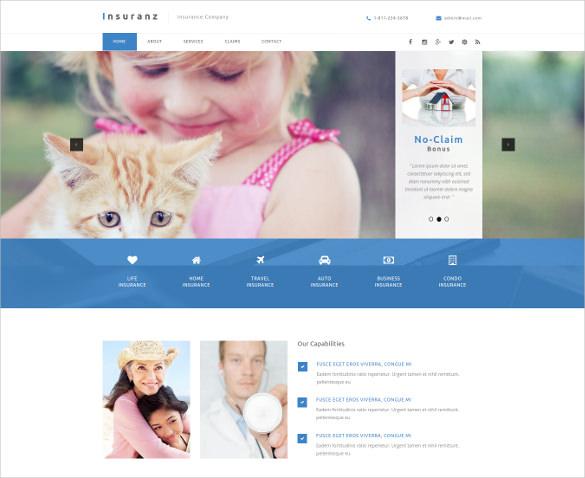 cinsurance services muse website theme1