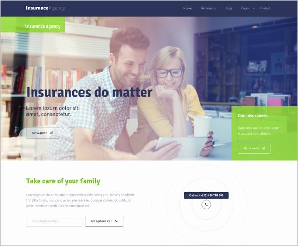 28+ Insurance Website Themes & Templates | Free & Premium ...
