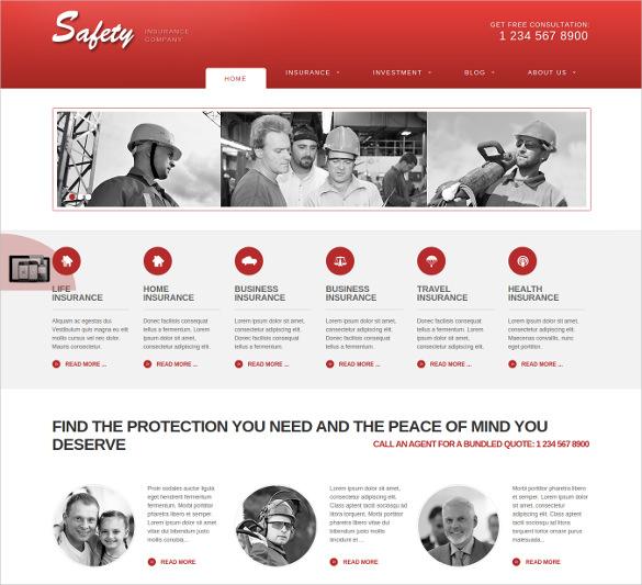 responsive insurance joomla website theme