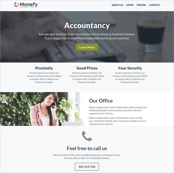 responsive insurance business website template