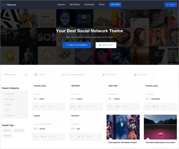 18+ Social Media Website Themes & Templates | Free & Premium Templates