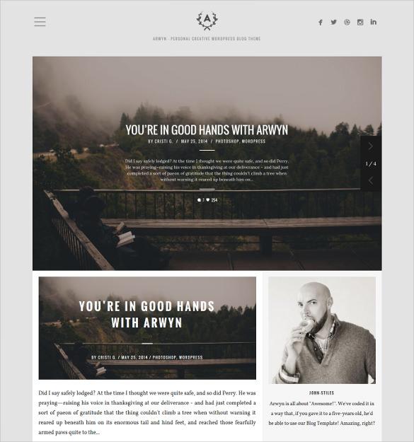 charming social media wordpress website blog theme