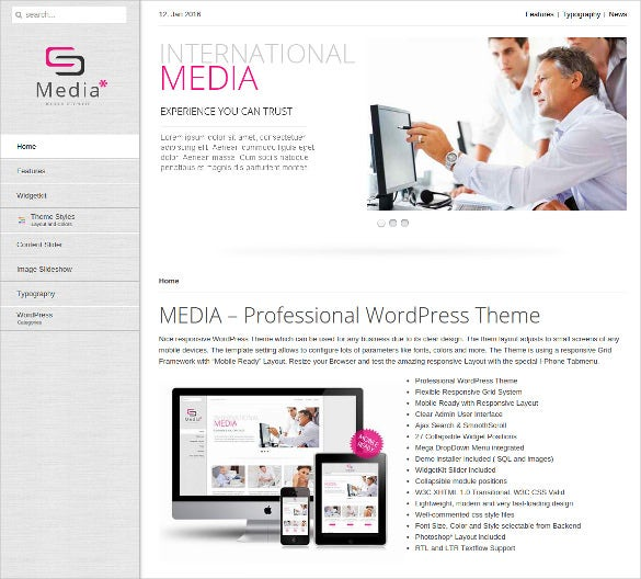 22 social media website themes templates free premium templates. Black Bedroom Furniture Sets. Home Design Ideas