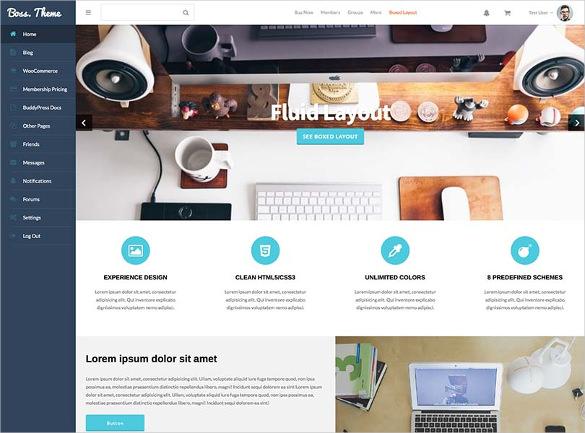 flexible social media website theme