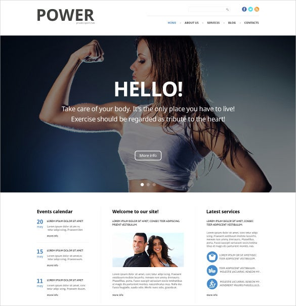 fitness responsive joomla website theme