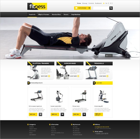 responsive fitness store prestashop website template