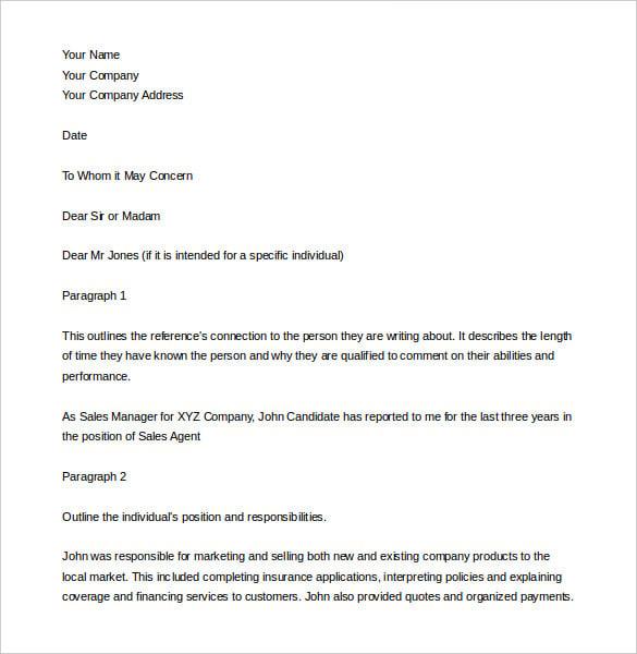 Doc750562 Employment Verification Letter Template for Visa – Employment Verification Letter Template Word