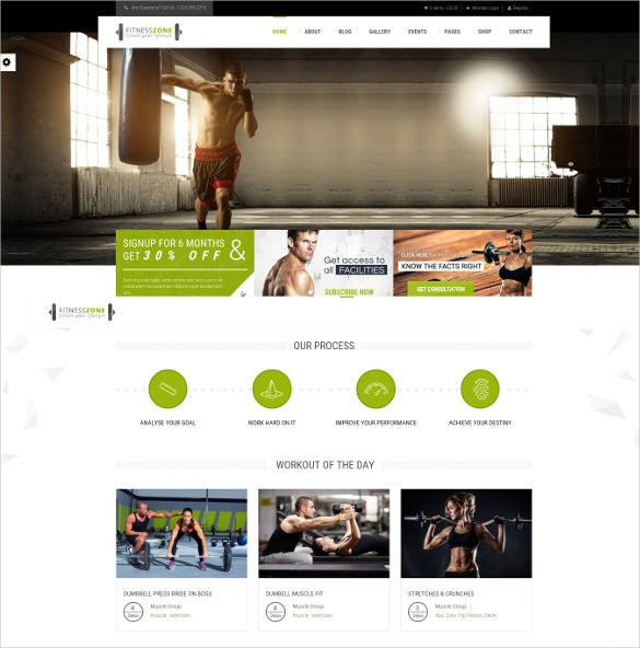 superb fitness gym wordpress website theme