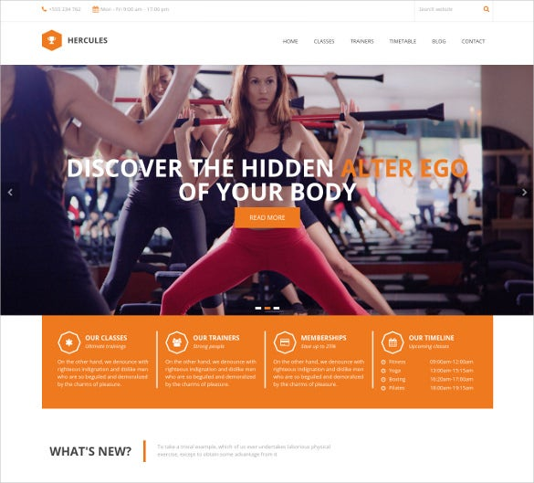 Premium Responsive Gym Fitness WordPress Website Template $49. Free Demo  Download  Fitness Templates Free