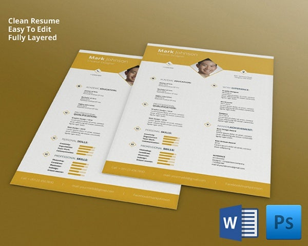 Superb Fully Layered Designer Resume Nice Design
