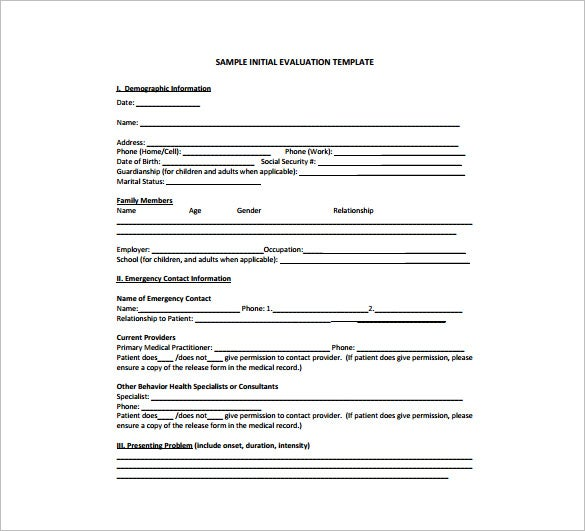 behavioral health treatment plan free pdf template download